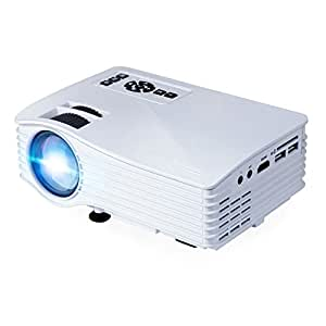 LED Video Projector,  1080P Mini Video Projector, 500 Lumens Home Projector with HDMI, VGA, Audio and USB Ports for Home Theaters, Office and Indoor Use