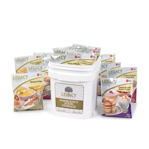 72 Hour Family Disaster Food Supply: 4 Person - 84 Large Servings - 17 lbs - Weather Financial Crisis Kit - Ready Storage Meal Insurance, Job Loss, Security, Nutritious GMO Free Diet by Legacy Premium Food Storage