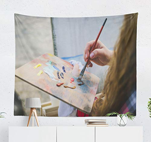 ASOCO Landscape Painting Tapestry, Tapestry Wall Hanging Artist Sea Landscape Inspiration Art Beauty Wall Tapestry for Bedroom Living Room Tablecloth Dorm 60