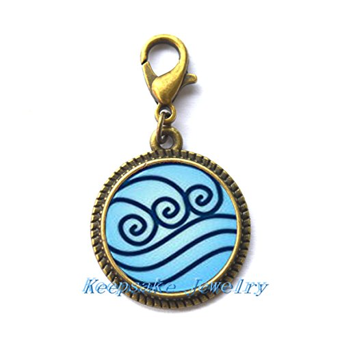 Modern Fashion Zipper Pull,Beautiful Zipper Pull ,Water Tribe Zipper Pull Charm Zipper Pull Avatar the Last Airbender Jewelry,Friends Gift-RC245