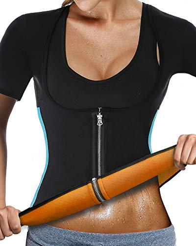 7b8fc4a34f NonEcho Women Sauna Body Shaper Sweat Suit Sleeve Spa Cami Hot Neoprene  Slimming Workout Vest Weight
