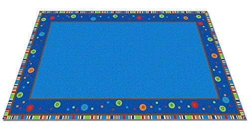 Kid Carpet FE788-22A Abc Dots School Nylon Area Rug 4' x 6' Multicolored [並行輸入品]   B07HLK2SRG
