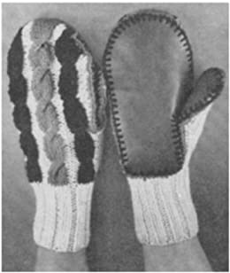 #1983 MITTENS VINTAGE KNITTING PATTERN (English Edition ...