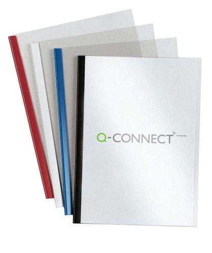 Q-Connect KF01926 Klemmschienen- und Deckblattset A4 5 mm 20 Stück schwarz