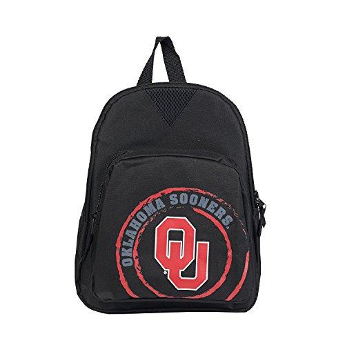 NCAA Oklahoma Sooners Offense Mini Backpack, 12-Inch, Black