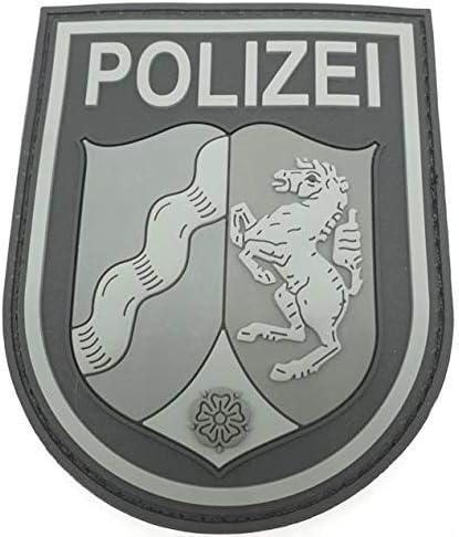 Polizeimemesshop NRW - Parche de Goma con Velcro para Ropa de policía: Amazon.es: Coche y moto
