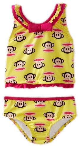 Paul Frank Babies - Paul Frank Baby Girls' Tankini Swimwear, Yellow Squid, 12 Months