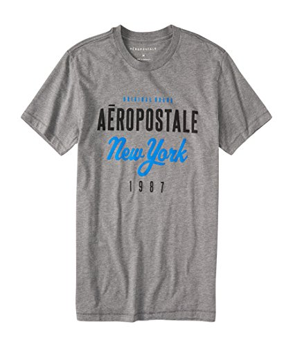 Aeropostale Aero New York Script Logo Graphic Tee XXLarge Med Grey