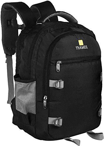 Thames Urban Polyester 35L Laptop   Travel   School Backpack  Black