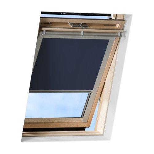 VICTORIA M Dachfensterrollo passend für Velux Dachfenster / verdunkelndes Rollo / GTL F06, dunkelblau