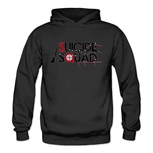 (Suicide Squad Logo Women's Long Sleeve T Shirts Black US Size)