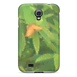 Shock Absorption Cell-phone Hard Covers For Samsung Galaxy S4 (yLV13566MBrz) Provide Private Custom Realistic Butterfly Pictures