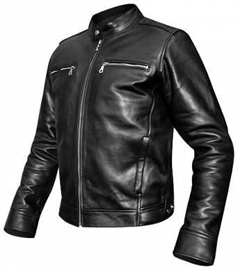 bc08a15afbf9 OSX - Veste Cuir Homme - Harrison Jacket - Noir  Amazon.fr ...