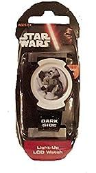 Star Wars Kids Dark Side Digital Display Light-Up LCD WHITE and BLACK Watch