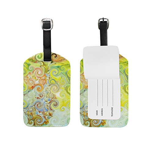 DEZIRO Floral Vase Curl Carnival Cruise Tags Luggage Bag Tag ()