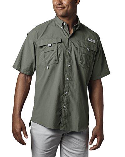 Columbia Men's Bahama II Shorts Sleeve Shirt, Cypress, XX-Large