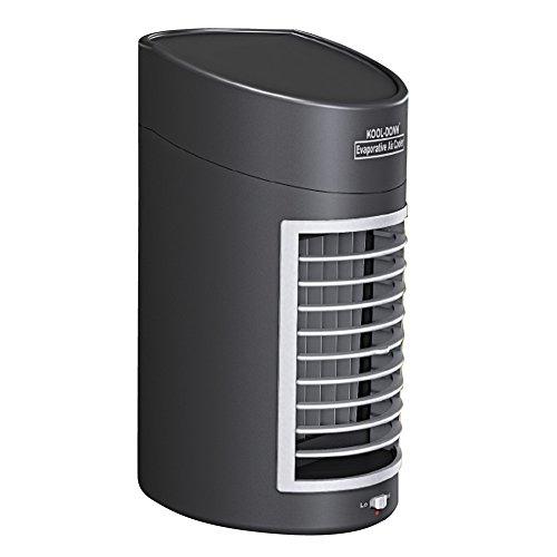 IdeaWorks Kool Down Evaporative Cooler - Enjoy Portable Cooling Relief -DC Adaptor Included - Black