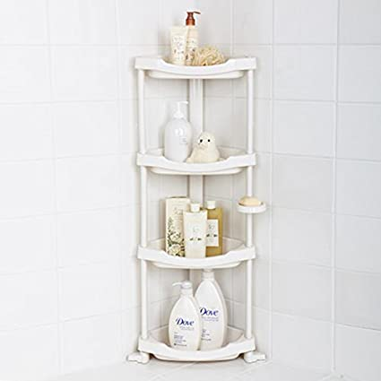 High Quality Tenby Living Corner Shower Caddy   4 Shelf Shower Organizer Caddie With  Movab.