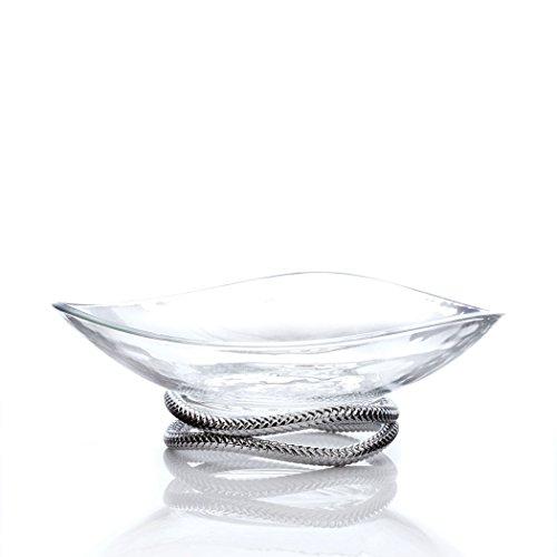 Nambe Braid Centerpiece Bowl - Crystal Nambe Vase
