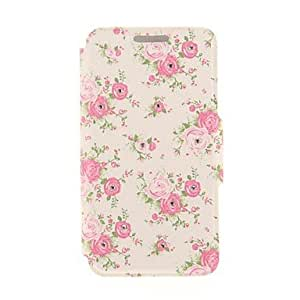 ZXSPACE Kinston Blossoming Flower Diamond Paste Pattern PU Leather Cover for iPhone 6