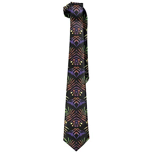 (JOMYY Men's Classic Casual Tropical Colorful Skinny Silk Tie Necktie Fashion Gift Weddings Gentleman Groom Business)
