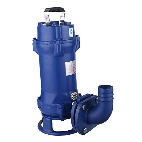 Submersible Sump Pump, 1.1KW 1.5HP Dirty Clean Water Pump Industrial Sewage Cutter Grinder Cast iron Submersible (US Stock)