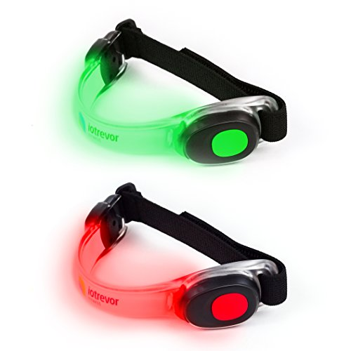 iotrevor fitness Fashionable Running Lights for Runners LED Armbands by (set of 2)