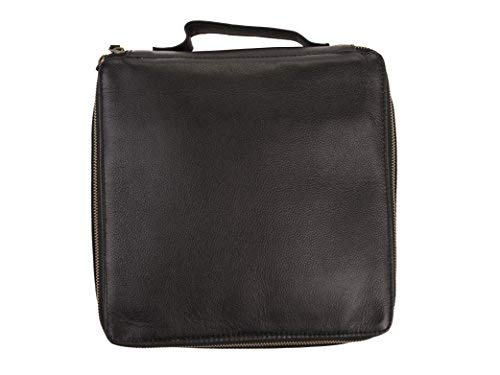 Dwellbee Travel Electronic Accessories and Cable Organizer, Large (Buffalo Leather, Black) by Dwellbee (Image #2)