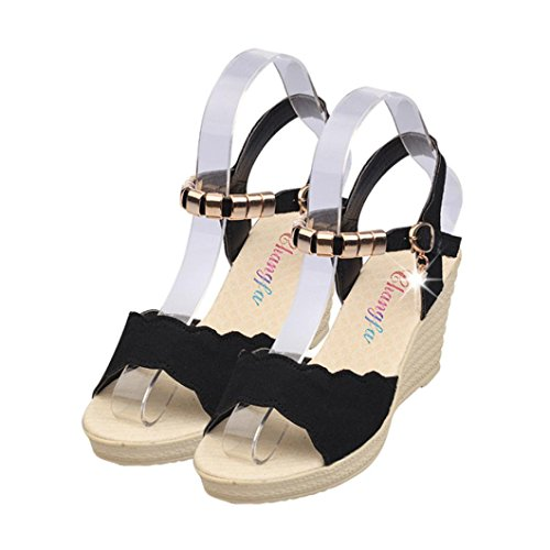 Tefamore Women Summer Crystal Fish Mouth Rhinestone Platform High Heels Sandals Hza7aPvz