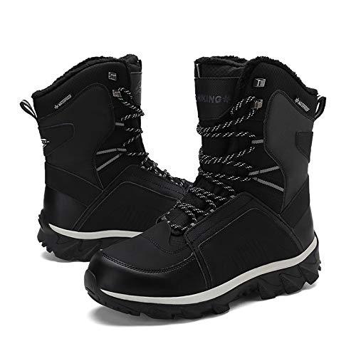 Boot Boot Boot 40X44 con Pelliccia Pelliccia Pelliccia Pelliccia Moda Gomma Scarpe Neve Black Invernale alla Caviglia Dimensioni Uomo Stivali Calda in q6TTXU