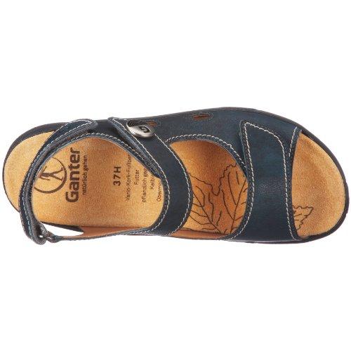 Ganter Hera, Weite H 1-205811-2000 - Sandalias de vestir de cuero para mujer Azul