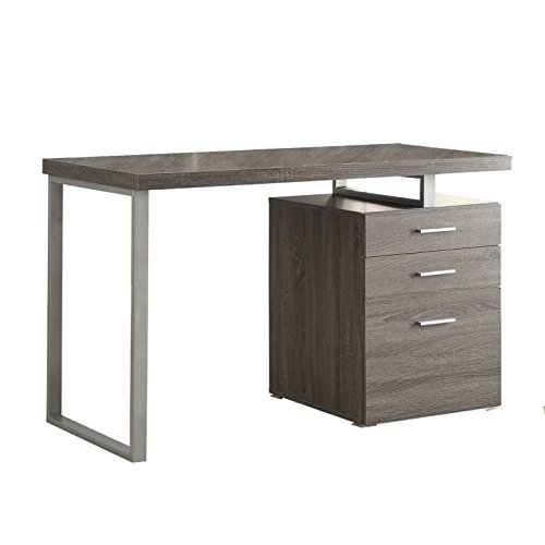 Coaster Contemporary Weathered Grey Writing Desk with File D