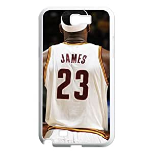 Samsung Galaxy Note 2 N7100 2D Personalized Phone Back Case with LeBron James Image