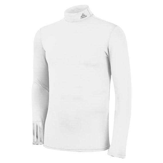 Adidas - Camiseta para Hombre de compresión térmica Cuello siglé Logo en los 3 Bandas, Hombre, Color Blanc - Blanc, tamaño Talla XXL: Amazon.es: Deportes y ...