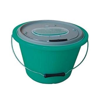 15 Liter inkl Angel Dom/äne/K/öderfischeimer Profi Sauerstoffpumpe