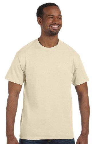 Hanes White Oxford (Hanes 5250 - Tagless T-Shirt, Medium, Natural)
