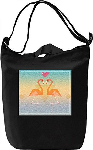 90's Flamingos Love Borsa Giornaliera Canvas Canvas Day Bag  100% Premium Cotton Canvas  DTG Printing 