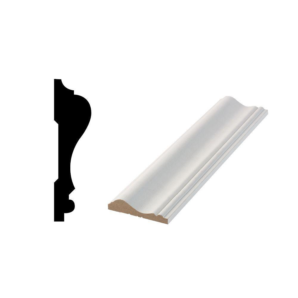 WM 390 0.5905 in. x 2-5/8 in. x 96 in. Medium Density Fiberboard Wood Chair Rail Moulding