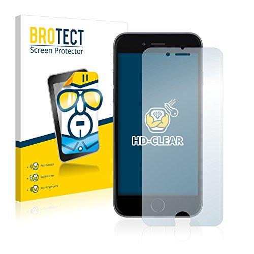 2x BROTECT HD-Clear Pellicola Protettiva Apple iPhone 6 Schermo Protezione – Trasparente, Anti-Impronte