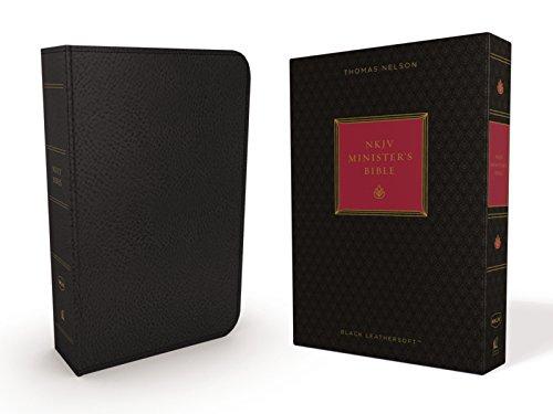 NKJV, Minister's Bible, Leathersoft, Black, Comfort Print