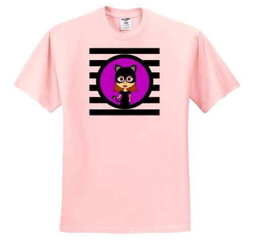 Janna Salak Designs Halloween - Cute Catwoman - T-Shirts - Toddler Light-Pink-T-Shirt (Cute Halloween Cat Pics)
