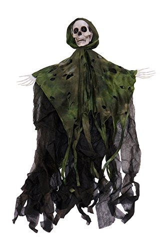 Animated Musical Grim Reaper Halloween Decoration with Light Up Eyes (Ghoulish Halloween Music)