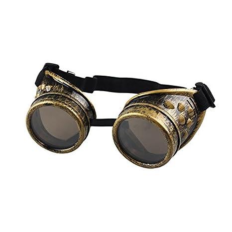 ZODOF Steampunk Estilo Retro Inspirado círculo metálico Redondo Gafas de Sol polarizadas para Mujer y Hombre Unisex