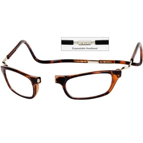 c35ed2518a CliC Magnetic Closure Reading Glasses XXL with Adjustable Headband Black  3.00  Amazon.co.uk  Health   Personal Care