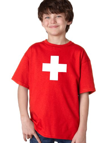 SWISS NATIONAL FLAG Youth T-shirt / Switzerland, Geneva, Zurich Tee