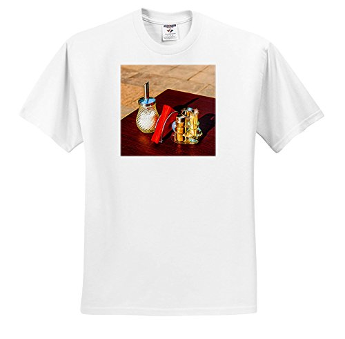 Price comparison product image Alexis Photo-Art - Still Life - Sugar Pot, Set Of salts and Peppers, Red Napkins, Digital Painting - T-Shirts - Youth T-Shirt Small(6-8) (TS_272509_12)