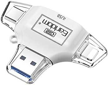 Bblank USB 2,0 Lector De Tarjetas 4 En 1 para Apple iPhone ...