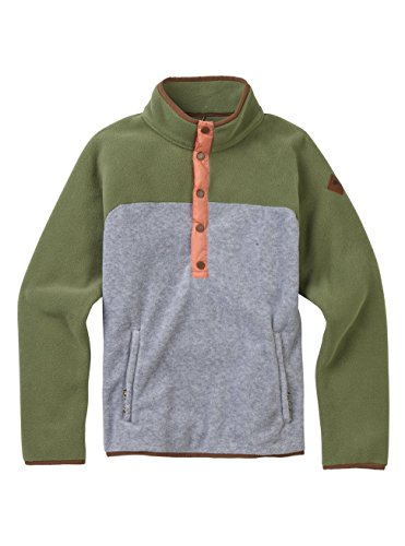 Burton Women's Hearth Fleece Pullover Hoodie, Clover/Gray Heather, Medium -
