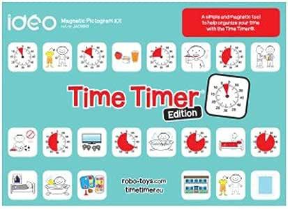 Ideo jac5060 magnética pictograma Juego para Time temporizador: Amazon.es: Oficina y papelería