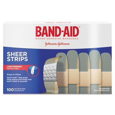 BAND-AID Sheer Adhesive Bandages, 3/4